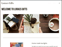 Tablet Preview of loracsgifts.co.uk